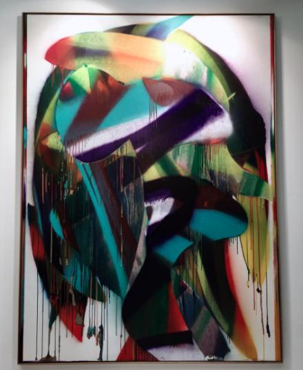 Katharina Grosse at Koenig Gallery, via Art Observed