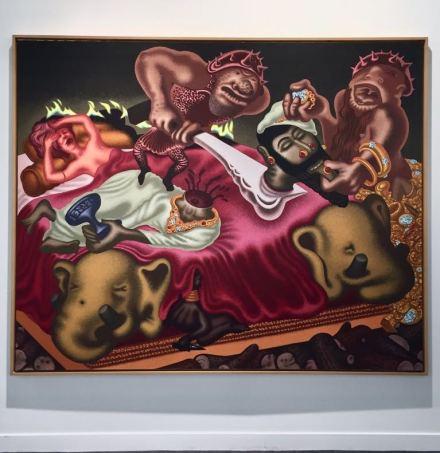 Peter Saul at Michael Werner, via Art Observed