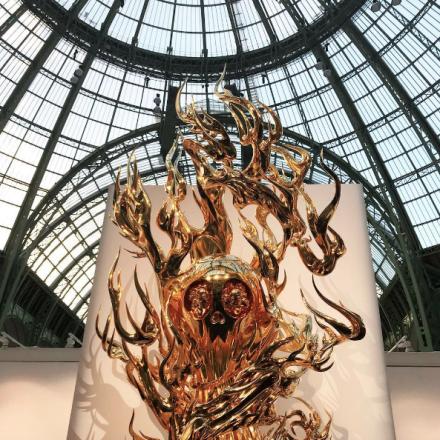 Takashi Murakami at Galerie Perrotin, via Art Observed