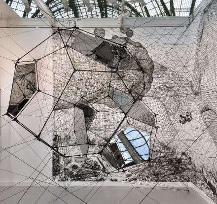Tomas Saraceno at Esther Schipper, via Art Observed