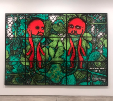 Gilbert & George, Beardcage (2016). via Art Observed