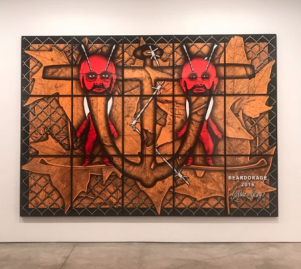 Gilbert & George, Beardorage (2016). via Art Observed
