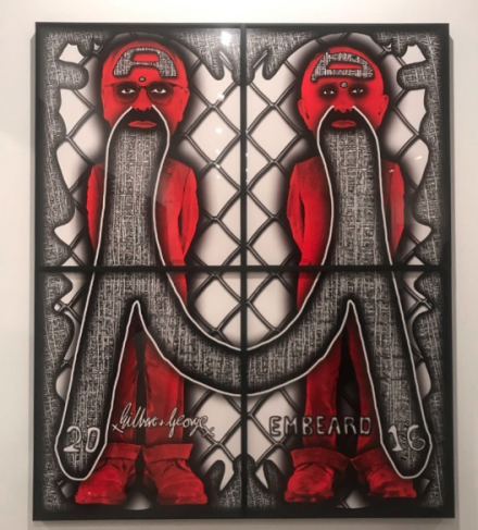 Gilbert & George, Embeard (2016). via Art Observed