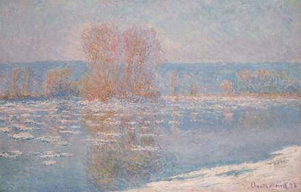 Claude Monet, Les Glaçons, Bennecourt (1893), via Sotheby's
