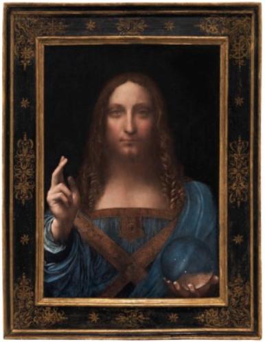 Leonardo da Vinci, Salvator Mundi (circa 1500), via Christie's