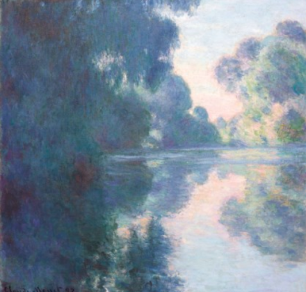 Claude Monet, Matinée sur la Seine (1897), via Christies