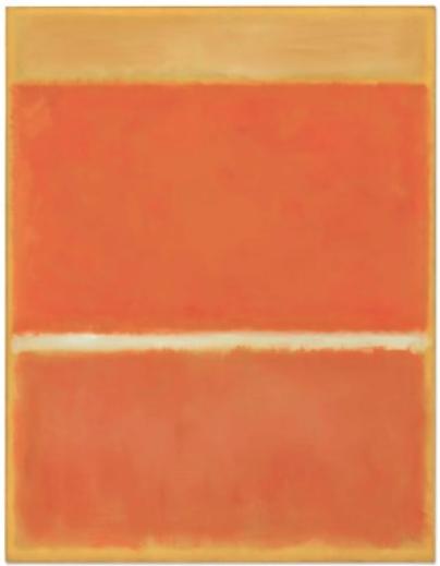 Mark Rothko, Saffron (1957), final price 32,375,000, via Christie's