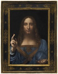 Leonardo da Vinci, Salvator Mundi (circa 1500) final price $450,312,500, via Christie's