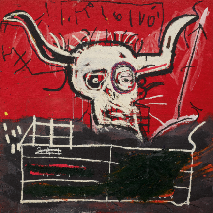 Jean-Michel Basquiat, Cabra (1981-82) final price $10,953,500, via Sothebys