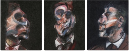 Francis Bacon, Three Studies of George Dyer (1966), final price $40,307,500 via Sothebys