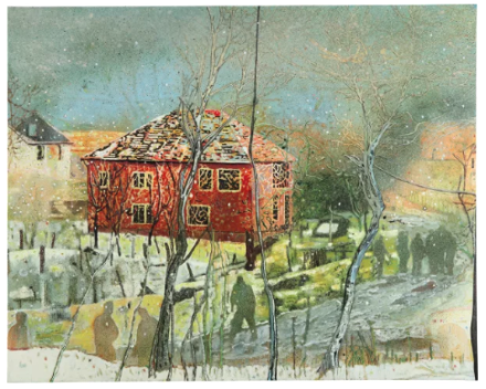 Peter Doig, Red House (1995-1996), final price $21,127,500, via Phillips