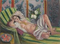 Odalisque couchée aux magnolias, via Art News