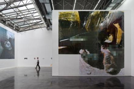 Thomas Hirschhorn, DE-PIXELATION (Installation View), via Gladstone Gallery