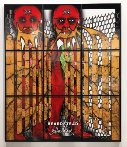 Gilbert and George at Lehmann Maupin, via Art Observed