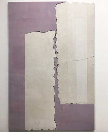 Sam Moyer at Rodolphe Janssen, via Art Observed