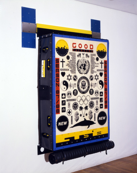 Ashley Bickerton. Good Painting (1988). Mixed media construction with neoprene covering, Courtesy the artist and Lehmann Maupin, New York and Hong Kong.