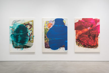 Installation View of Richard Prince: Ripple Paintings at Gladstone Gallery