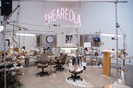 Jason Rhoades, The Grand Machine / THEAREOLA, (2002) (Installation view), PeaRoeFoam, David Zwirner, New York (2014) © The Estate of Jason Rhoades. Courtesy The Estate of Jason Rhoades, Hauser & Wirth and David Zwirner, New York/London