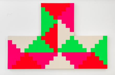 General Idea, 1968 General Idea Shaped Ziggurat Painting #2 (1986), via Mitchell-Iness and Nash
