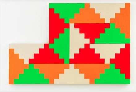 General Idea, 1968 General Idea Shaped Ziggurat Painting #1 (1986), via Mitchell-Iness and Nash