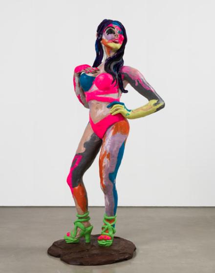 Rachel Feinstein, Feathers (2018), via Gagosian Gallery