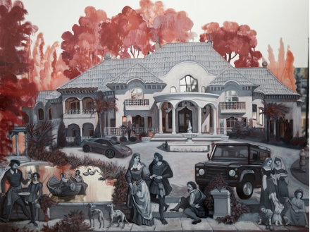 Rachel Feinstein, the Lake House (2018), via Gagosian Gallery