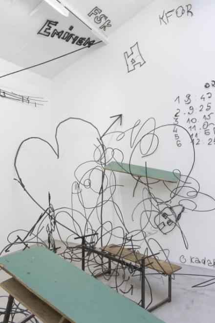 Petrit Halilaj, Abetare (Fluturat) (Installation View), via Kamel Mennour