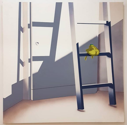 Jamian Juliano-Villani, Does This Slide Or Do I Pull (2018), via Art Observed
