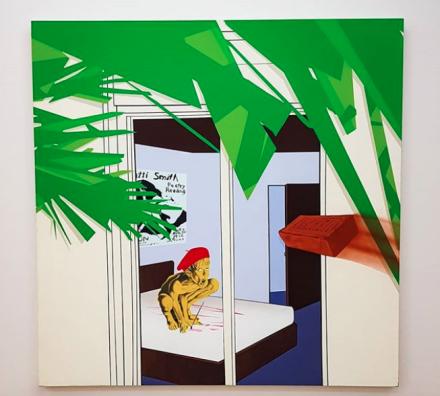 Jamian Juliano-Villani, Expressions (2018), via Art Observed