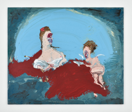 Genieve Figgis, Erato the muse of love poetry (after Boucher) (2018), via Almine Rech