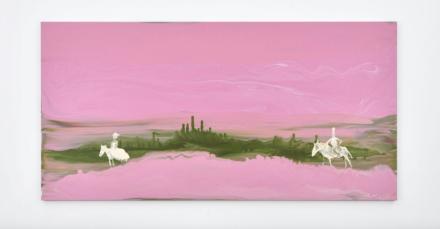 Genieve Figgis, Pink Landscape (2018), via Almine Rech