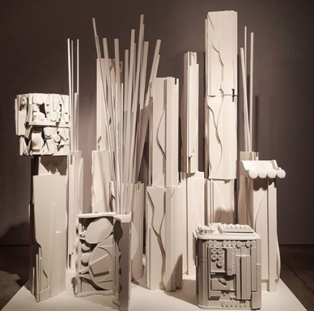 Louise Nevelson, Dawn's Presence - Three (1975), via Art Observed
