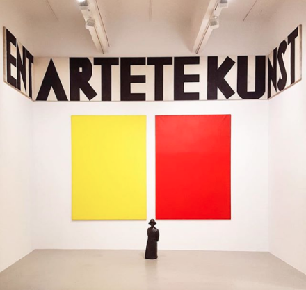Fabio Mauri, Entartete Kunst (Degenerate Art) (1985), via Art Observed
