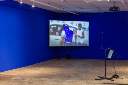 Sondra Perry at Bridget Donahue (Installation View), via Bridget Donahue