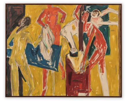 Allan Kaprow, Figures in Yellow Interior (1954)