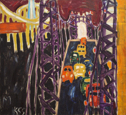 Allan Kaprow, George Washington Bridge, with Cars (1955)