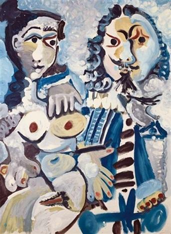 Pablo Picasso, Mousquetaire et nu assis (1967), via Christies