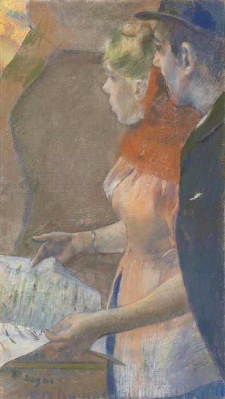 Edgar Degas, Dans les coulisses (1882-1885), via Christies