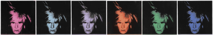 Andy Warhol, Six Self-Portraits (1986), via Christie's