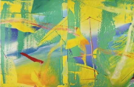 Gerhard Richter, Gelbgrün (1982), via Sotheby's