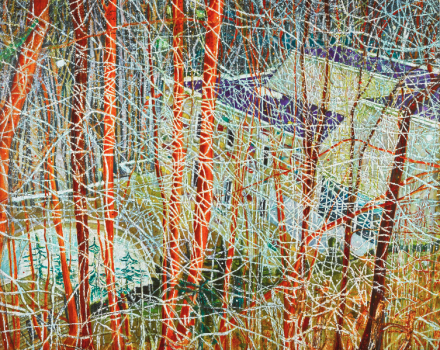 Peter Doig, The Architect's Home in the Ravine (1991), via Sotheby's