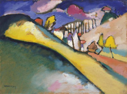 Wassily Kandinsky, Studie für Landschaft (Dünaberg) (1910), via Christies