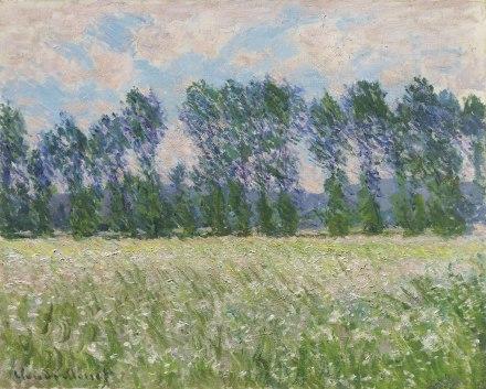 Claude Monet, Prairie à Giverny (1885), via Christies