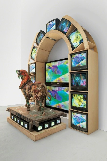 Nam June Paik, Lion (2005), via Gagosian