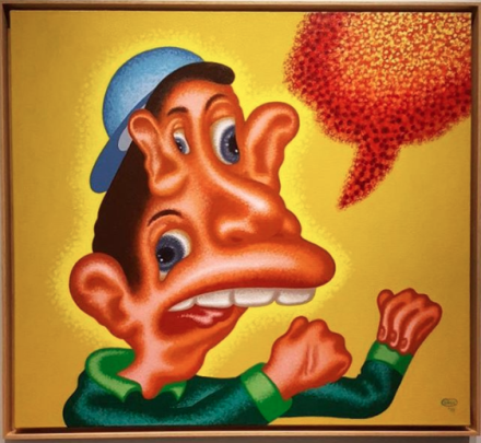 Peter Saul at Michael Werner in collaboration with Mary Boone, via Art Observed