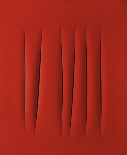 Lucio Fontana, Concetto Spaziale, Attese (1963), via Sotheby's