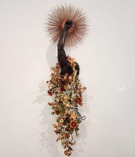 Nick Cave at Jack Shainman, via Art Observed