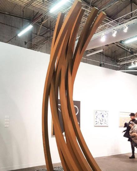 Bernar Venet at Kasmin Gallery, via Art Observed
