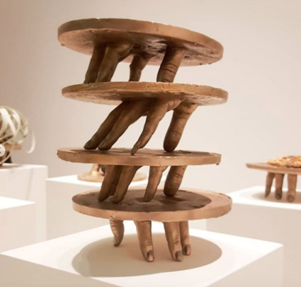 Kelly Akashi at Sculpture Center, via Art Observed
