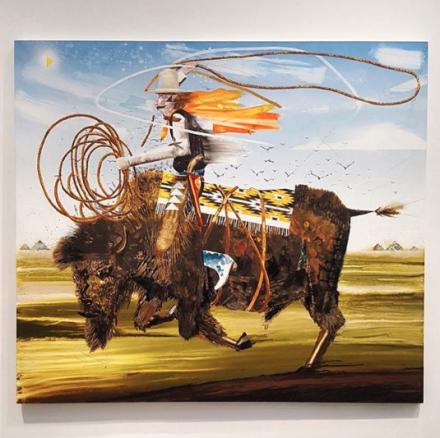 Barnaby Furnas, The Wrangler (2018), via Art Observed